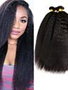 4 paket Malaysiskt hår Yaki Äkta hår Human Hår vävar bunt hår En Pack Lösning 8-28 tum Naurlig färg Hårförlängning av äkta hår Bästa kvalitet Till färgade kvinnor 100% Jungfru Människohår / 8A