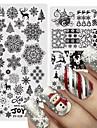 2 pcs Nail DIY Tools Mall Romantisk serie / Tecknad serie Klassisk / Hållbar nagel konst manikyr Pedikyr Tecknat / Europeisk Jul / Halloween / Strand / Metall