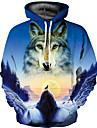Men\'s Hoodie 3D Hooded Basic / Exaggerated Long Sleeve Blue S M L XL XXL XXXL / Spring / Fall