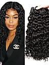 3 paket Peruanskt hår Vattenvågor Äkta hår Human Hår vävar bunt hår En Pack Lösning 8-28 tum Naurlig färg Hårförlängning av äkta hår Klassisk Bästa kvalitet Till färgade kvinnor Människohår / 8A
