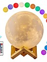 Moon Lamp LED 3D Print Moon Light with Remote Control Rechargeable Color Changing Moon Light Lamps for Kids Lover Birthday Gifts 12cm / 4.72inch
