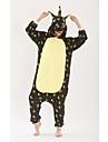 Vuxna Kigurumi-pyjamas Unicorn Animé Ponny Onesie-pyjamas polyesterfiber Svart Cosplay För Herr och Dam Pyjamas med djur Tecknad serie Festival / högtid Kostymer