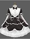 Sweet Lolita Elegant Klänningar Flickor Dam Spets Cotton Japanska Cosplay-kostymer Svart / Blå / Rosa Vintage Spets Puffärm Långärmad Knälång
