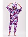 Vuxna Kigurumi-pyjamas Unicorn Animé Ponny Onesie-pyjamas polyesterfiber Purpur Cosplay För Herr och Dam Pyjamas med djur Tecknad serie Festival / högtid Kostymer