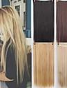 Syntetiska utsträckningar Rak Syntetiskt hår 22 inch HÅRFÖRLÄNGNING Klämma In / På 1 st. syntetisk Förlängning Dam Dagliga kläder
