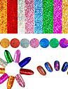 9 pcs 3D Nagelstickers Kreativ nagel konst manikyr Pedikyr Bästa kvalitet / Originella Ljuv / Mode Dagligen
