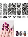 1 pcs Stämpelplatta Mall Romantisk serie Universell / återvinnings~~POS=TRUNC nagel konst manikyr Pedikyr Europeisk / Franska Dagligen / Maskerad