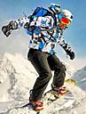 MUTUSNOW Herr Skidjacka och -byxor Vattentät Vindtät Andningsfunktion Skidåkning Vintersport Polyester Träningsdräkter Skidkläder / Varm