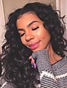 Remy-hår Hel-spets Spetsfront Peruk Asymmetrisk frisyr Kardashian stil Brasilianskt hår Kroppsvågor Löst vågigt Naturlig Svart Peruk 150% Hårtäthet med babyhår Dam Enkel på- och avklädning Naturlig
