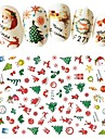 1 pcs Engångsvara Miljövänligt material Dekaler Till Fingernageö Jul nagel konst manikyr Pedikyr Dagligen / Festival Stilig / Europeisk