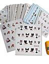 44 pcs 3D Nagelstickers Vattenöverföringsklistermärke Tomtekostymer / Julgran nagel konst manikyr Pedikyr Multifunktion / Bästa kvalitet Mode