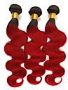 3 paket Brasilianskt hår Kroppsvågor Remy-hår Hårförlängningar av äkta hår 10-26 tum Hårförlängning av äkta hår Mjuk Bästa kvalitet Ny ankomst Människohår förlängningar / 10A