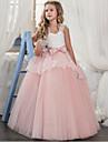 Cinderella Prinsessa Klänningar Festklädsel Flickor Barn Organza Kostym Purpur / Röd / Rosa Vintage Cosplay Ärmlös