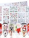 1 pcs 3D Nagelstickers Vattenöverföringsklistermärke Elk / Snöflinga nagel konst manikyr Pedikyr Multifunktion / Bästa kvalitet Trendig / Mode Dagligen