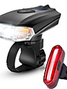 LED Bike Light Rechargeable Bike Light Set Front Bike Light Rear Bike Tail Light Mountain Bike MTB Bicycle Cycling Waterproof Multiple Modes Smart Induction Light Sensor Rechargeable Li-Ion Battery