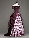 Rokoko Victoriansk 18th Century Ruffle Dress Klänningar Dam Kostym Rosa Vintage Cosplay Party Bal Kortärmad Golvlång Plusstorlekar