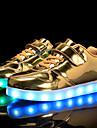 Pojkar / Flickor Komfort / Lysande skor PU Sneakers Småbarn (9m-4ys) / Lilla barn (4-7år) / Stora barn (7 år +) Snörning / Krok och ögla / LED Guld / Silver / Rosa Höst
