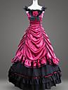 Gotiskt Victoriansk Medeltida kostymer 18th Century Klänningar Festklädsel Maskerad Dam Kostym Röd Vintage Cosplay Party Bal Golvlång Balklänning Plusstorlekar Anpassad