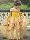 Prinsessa Belle Vintage Klänningar Festklädsel Flickor Barn Kostym Himmelsblå / Gul / lavandel Vintage Cosplay Ärmlös