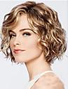 Syntetiska peruker Vattenvågor Bob-frisyr Peruk Guld Korta Blekt Blont Syntetiskt hår 12INCH Dam Justerbar Värmetåligt Klassisk Guld