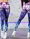 Dam Hög midja Yoga byxor 3D Print Zumba Löpning Fitness Leggings Sportkläder Andningsfunktion Svettavvisande Butt Lift Magkontroll Hög Elasisitet Skinny