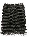 3 paket Peruanskt hår Vattenvågor Remy-hår Äkta hår Huvudbonad Hårvård bunt hår 8-28 tum Svart Naurlig färg Hårförlängning av äkta hår Silkig Len Mode Människohår förlängningar / 10A