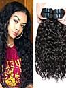 4 paket Brasilianskt hår Vattenvågor Obehandlad hår Förlängare Hårförlängningar av äkta hår 8-28 tum Naurlig färg Hårförlängning av äkta hår Till färgade kvinnor 100% Jungfru Människohår förlängningar