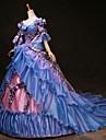 Cinderella Prinsessa Victoria Stil Rokoko Klänningar Outfits Festklädsel Maskerad Dam Kostym Regnbåge Vintage Cosplay Party Bal 3/4 ärm