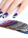 12 pcs Multifunktion / Bästa kvalitet Miljövänligt material Nail Foil Striping Tape Till Kreativ nagel konst manikyr Pedikyr Dagligen / Festival Trendig / Mode