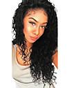 Äkta hår Halvnät utan lim Spetsfront Peruk Med babyhår stil Brasilianskt hår Stora vågor Peruk 130% 250% Hårtäthet Mörka hårrötter Naturlig hårlinje Till färgade kvinnor 100% Jungfru Dam Mellan Lång