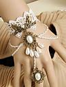 Rozen Kristall Tappning Armband Ringarmband Sweet Lolita Gothic Lolita Gotiskt Steampunk Spets Konstädelstenar Legering Smycken Lolita Accessoarer Semestersmycken Till Bal Tonårskalas Dagliga kläder