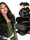 3 paket Brasilianskt hår Kroppsvågor Äkta hår Human Hår vävar Hårvård bunt hår 8-28 tum Naurlig färg Hårförlängning av äkta hår Silkig Len Förlängning Människohår förlängningar