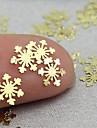 100 pcs Multifunktion / Bästa kvalitet Miljövänligt material Paljetter Till Kreativ Snöflinga nagel konst manikyr Pedikyr Jul / Dagligen Mode