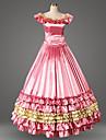 Vintage Gotiskt Victoriansk Medeltida kostymer 18th Century Klänningar Festklädsel Maskerad Dam Satin Kostym Fuschia Vintage Cosplay Party Bal Ärmlös Kort / mini Plusstorlekar Anpassad