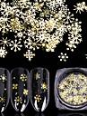 90 pcs Multifunktion / Bästa kvalitet Miljövänligt material Dekaler Till Snöflinga nagel konst manikyr Pedikyr Jul / Dagligen Mode
