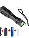 LED-Ficklampor 2000 lm LED LED 1 utsläpps 5 Belysning läge med batteri och laddare Justerbar fokus Camping / Vandring / Grottkrypning Vardagsanvändning Cykling / Aluminiumlegering