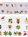 16 pcs Bästa kvalitet Miljövänligt material Nagelsmycken Till Jul Snöflinga nagel konst manikyr Pedikyr Dagligen Stilig / Trendig
