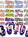 48 pcs Vattenöverföringsklistermärke Blomma / Botanisk nagel konst manikyr Pedikyr Multifunktion / Bästa kvalitet Ljuv / Mode Dagligen