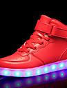 Pojkar / Flickor Lysande skor / Jul PU Sneakers Lilla barn (4-7år) / Stora barn (7 år +) Promenad LED Svart / Vit / Röd Höst / Vinter / Fest / afton