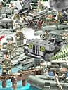 Byggklossar Byggklossfigurer Byggsats Leksaker 152 pcs Militär Stridsvagn Soldier kompatibel Legoing Simulering Militärfordon Stridsvagn Alla Pojkar Flickor Leksaker Present / Utbildningsleksak