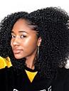Dolago Klämma in Människohår förlängningar Kinky Curly Äkta hår Hårförlängningar av äkta hår Brasilianskt hår Naturlig 7 st Luktfri Naturlig 100% Jungfru Alla Svart