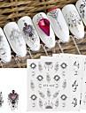 24 pcs Vattenöverföringsklistermärke Drömfångare nagel konst manikyr Pedikyr Bästa kvalitet Mode Dagligen