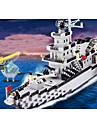 Byggklossar Byggsats Leksaker Utbildningsleksak 970 pcs Militär Krigsfartyg Hangarfartyg kompatibel Legoing Simulering Handgjort Båt Hangarfartyg Alla Pojkar Flickor Leksaker Present