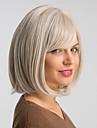 Syntetiska peruker Naturlig Straight Bob-frisyr Peruk Mellan Vit Syntetiskt hår 12 tum Dam Moderiktig design Klassisk Ny ankomst Vit MAYSU / Naturlig hårlinje / Naturlig hårlinje