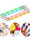 5pcs Miljövänligt material Nail Art Tool Nail DIY Tools Nail Painting Tools Till Anti-fingeravtryck nagel konst manikyr Pedikyr Mode Dagligen