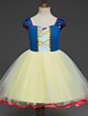 Snövit Prinsessa Cosplay Kostymer / Dräkter Barn Flickor Klänningar Jul Halloween Karnival Festival / högtid Tyll Cotton Gul Karnival Kostymer Prinsessa