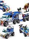 Byggklossar Byggsats Leksaker Utbildningsleksak 4 pcs kompatibel Legoing Handgjort Föräldra-Barninteraktion Polisbil Alla Pojkar Flickor Leksaker Present