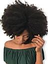 Dolago Klämma in Människohår förlängningar Lockigt Äkta hår Hårförlängningar av äkta hår Brasilianskt hår Naturlig 7 st Luktfri Naturlig 100% Jungfru Alla Svart