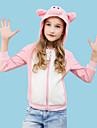 Barn Huvtröja Kigurumi-pyjamas Gris Onesie-pyjamas Polär Ull Rosa Cosplay För Pojkar och flickor Pyjamas med djur Tecknad serie Festival / högtid Kostymer