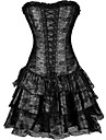 Cosplay Steampunk Retro Victoriansk 18th Century Klänningar Överbystkorsett Dam Spets Kostym Svart / Purpur / Grön Vintage Cosplay Ärmlös Kort längd
